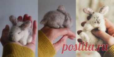 Вязаный спицами кролик Teeny Tiny Bunny - Вяжи.ру