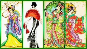 «Восточная грация» (4 схемы) Geisha / Гейша