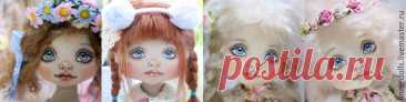 Как нарисовать личико текстильной кукле | Журнал Ярмарки Мастеров