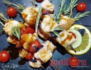 Шашлычки из лосося на розмариновых шпажках, пошаговый рецепт на 549 ккал, фото, ингредиенты - Виктория