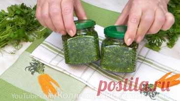 Способы заготовки свежей зелени на зиму с сохранением вкуса и аромата!