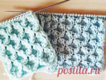 Узор для шапок, свитеров и кофт. Вязание спицами.