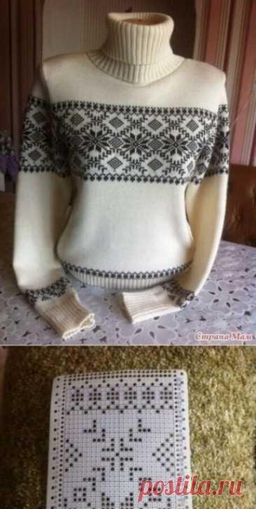 Жаккард - зимние узоры для вязания