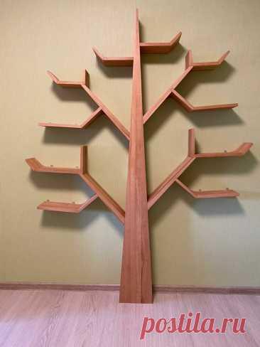 Полка-дерево своими руками | Пикабу