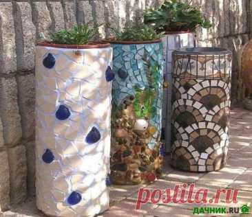 Изготовление красивых и оригинальных вазонов из бетона своими руками   6 соток