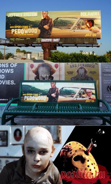 "Tarantino adverts violated to include Epstein, Polanski and ""Pedowood"""