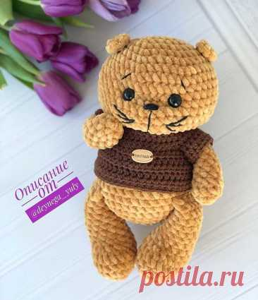 Вязаный котик амигуруми | Схемы вязания крючком