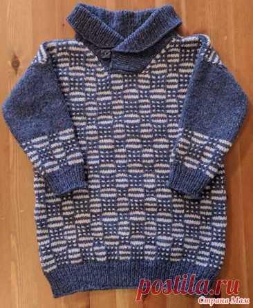 """Детский свитер """"ленивым"""" жаккардом и отзыв о пряже etrofil re-born"""