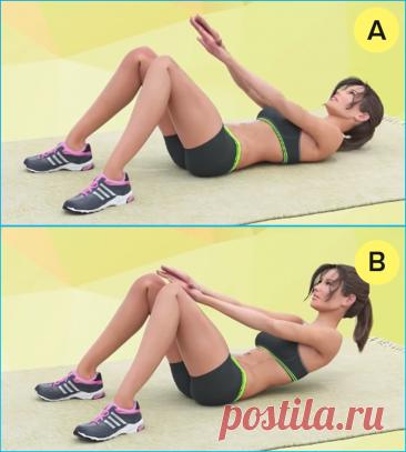 6 несложных упражнений против большого живота с акцентом на нижнюю часть для женщин за 40 (выполнение лежа на коврике) | Похудей с нами | Яндекс Дзен