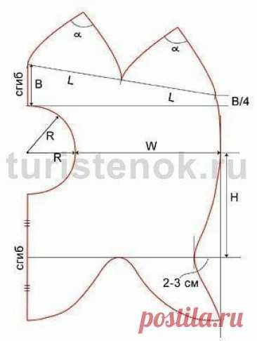 Как построить выкройку шапки-шлема Как построить выкройку шапки-шлемаСтроим полукруг радиусом R = ОЛ/(2·3,14)-1см.Если ткань легко растягивается по краю, то лучше вычесть 2 см: R = ОЛ/(2·3,14)-2см.Ширина от края лицевого отверстия до затылка W = ОГ/2-R.Если ткань неэластичная, можно прибавить 0,5-1см на...