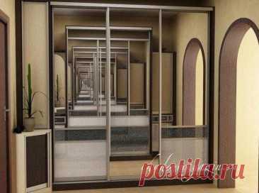 Шкаф-купе в коридор или прихожую с зеркалом и цветным стеклом купить по цене 63 000 руб. в Москве — интернет магазин chudo-magazin.ru