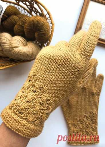Перчатки Yantar от Anna Zhuravleva Перевод Russa_N #мой_перев  РАЗМЕР Женский S[M, L, XL] ГОТОВЫЕ РАЗМЕРЫ Обхват перчатки (измеряется вокруг ладони): 16[18,19, 20,5] см.