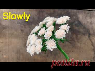 ABC TV | How To Make Easy Carrot Flower From Crepe Paper (Slowly) - Craft Tutorial