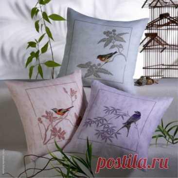 схема для вышивки крестом Певчие птички