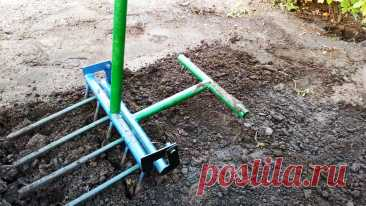 Как сделать инструмент для легкого рыхления и копки, без нагрузки на спину Много дачников и садоводов бросают свое хобби по причине болей в спине при копке и рыхлении почвы. Размер участков зачастую слишком мал, чтобы было целесообразно покупать для него мотокультиватор. Чтобы обрабатывать свою землю вручную и минимально напрягая спину, сделайте себе этот