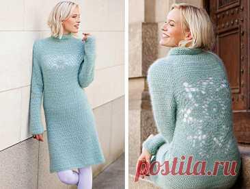 Платье крючком с ажурным узором на спине - Портал рукоделия и моды