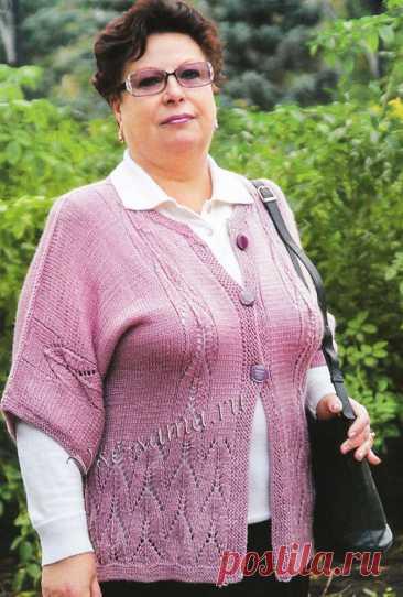 Elegant cardigan spokes for stout women
