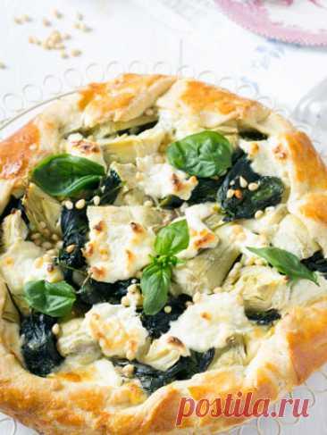 Открытые пироги с грибами, сыром, помидорами: 3 рецепта. Домашние пироги - с грибами, шпинатом, томатами