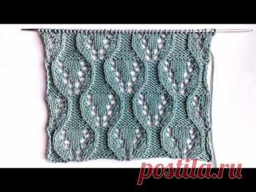 Узор спицами Ажурные шестигранники для вязания палантинов, кардиганов