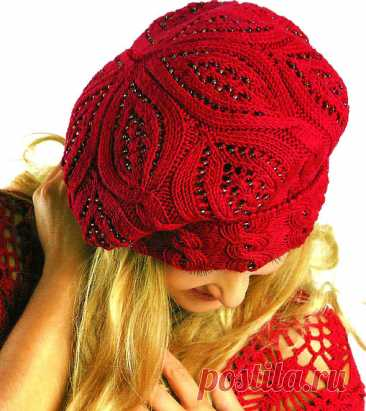 Berets spokes | Knitting of Caps - Fashionable and New Models - Part 5