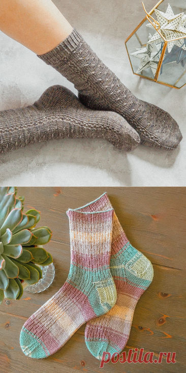 Ноги должны быть в тепле. 8 простых моделей вязаных носков со схемами | Вязунчик — вяжем вместе | Яндекс Дзен
