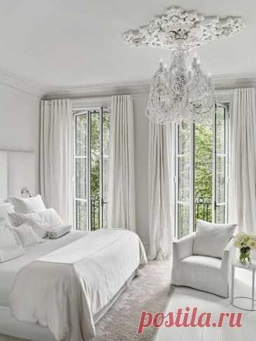 Дизайн спальни в белом цвете: 25 фото интерьера ~ ALL-DEKOR