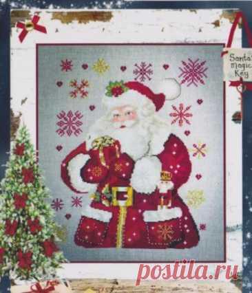 Добрый Санта- схема для вышивки крестом