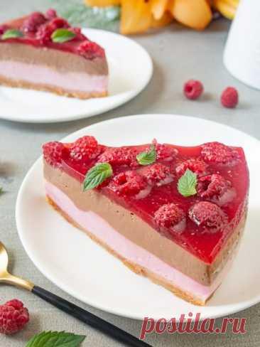 Рецепт Малиново-шоколадный чизкейк 🔥 на Вкусном Блоге