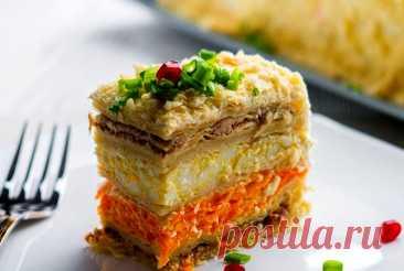 Салат «Наполеон» — оригинальное блюдо к Новогоднему столу   ВокругСада.ру