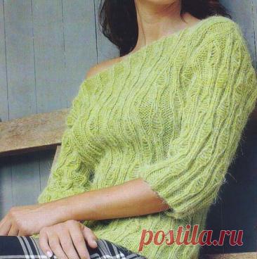 Прямоугольное вязание спицами. | Марусино рукоделие | Яндекс Дзен