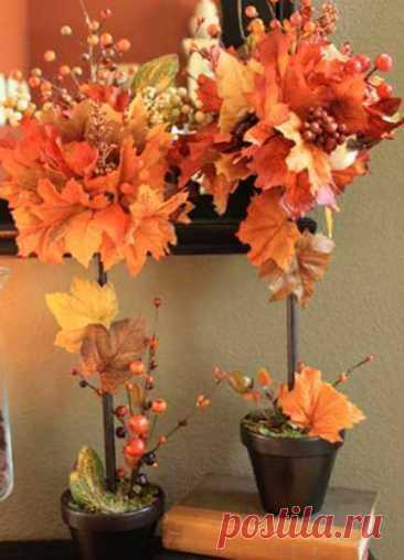 Декор из осенних листьев: 25 идей осеннего декора - ALL-DEKOR