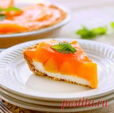 Сливочно-персиковый пирог