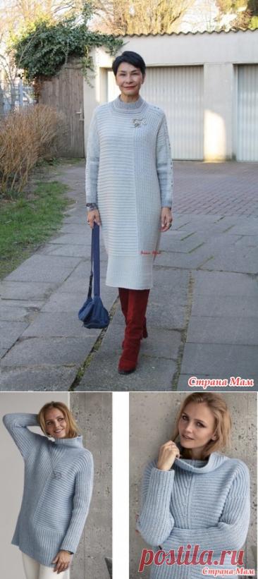 Платье оверсайз с вертикальным узором. Irina Horn.