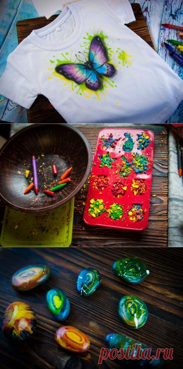 Восковые карандаши покупаем пачками, а сломанные - не выкидываем! Покажу вам необычные идеи их использования, которые вас удивят | Живые вещи | Яндекс Дзен