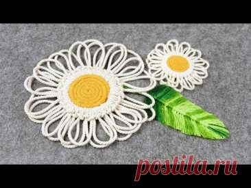 DIY MACRAME DAISY COASTERS EASY FLOWER PATTERN TUTORIAL