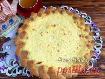Пирог с творогом: очень вкусный, нежный и быстрый - рецепт с фото пошагово