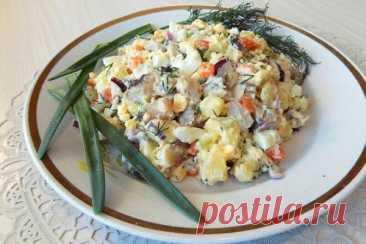 Салат из селедки с картофелем, яйцами и луком, рецепт с фото и видео | Вкусные кулинарные рецепты