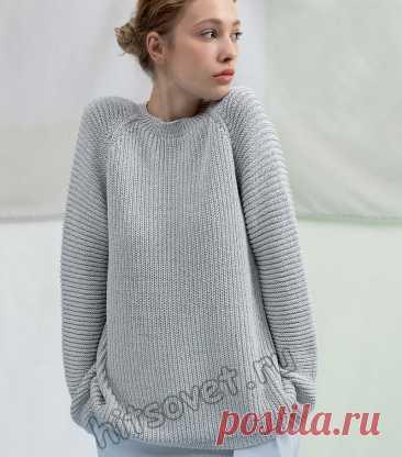 Свободный свитер с рукавами реглан - Хитсовет