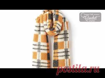 Crochet Big Tartan Scarf | INTERMEDIATE | The Crochet Crowd
