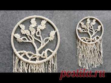 Blooming Tree Of Life Macrame Wall Hanging Tutorial