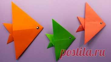 🐟 Diy🐟 ОРИГАМИ РЫБКА из бумаги / Как сделать рыбку своими руками / Простые и Легкие поделки в школу Как сделать оригами рыбку из бумаги своими руками. Оригами Рыбка из бумаги - забавная рыба, сделанная из одного листа бумаги А4. Эта простая поделка из бумаг...