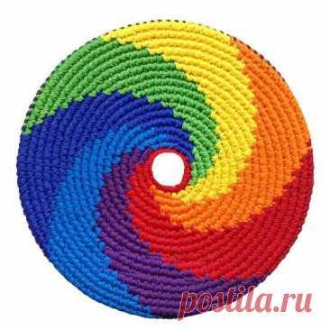 Салфетки, связанные по спирали крючком | NataliyaK | Яндекс Дзен