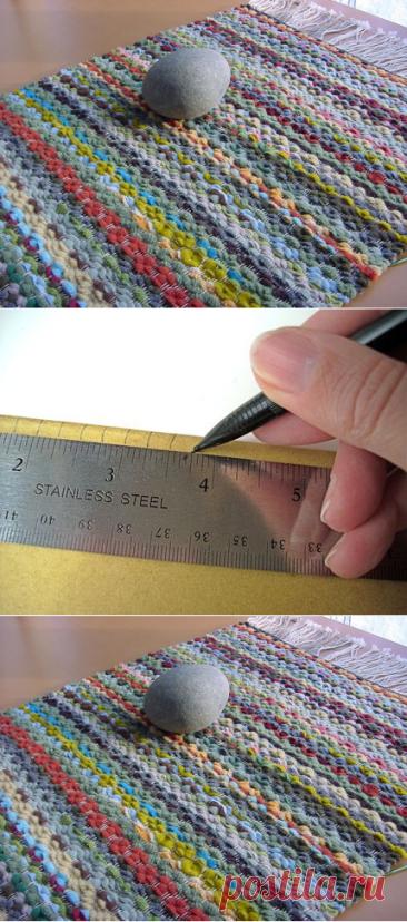 Как сделать ткацкий станок из вилки и картонки и сплести коврик… Вспомним искусство наших бабушек!