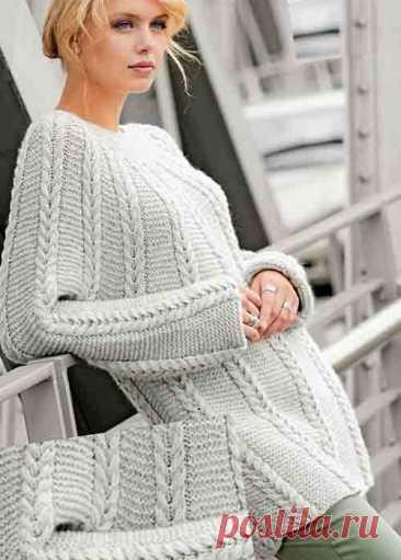 Джемпер спицами для женщин: схемы и описание 11 молодежных моделей