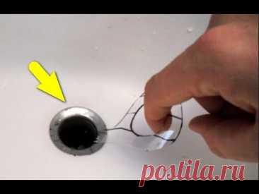 Como limpiar el atascamiento en de baño y el excusado por la botella regular de plástico