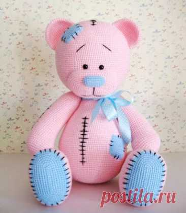 1000 схем амигуруми на русском: Вязаный мишка амигуруми