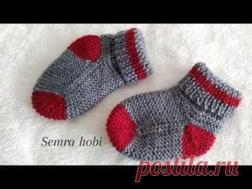 İki şiş bebek çorabı yapılışı