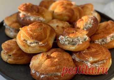 (2) Профитроли с творожным сыром и рыбой - пошаговый рецепт с фото. Автор рецепта Ксения🌳 ✈️ . - Cookpad