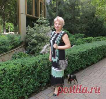 Платье крючком - Голубая лагуна - Lilia Vignan