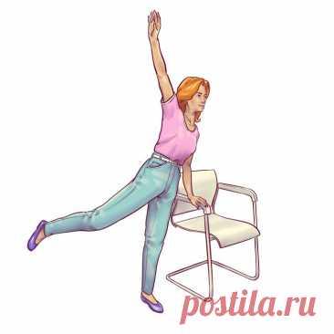 6 упражнений для плоского живота, которые можно делать прямо на стуле | Всегда в форме!